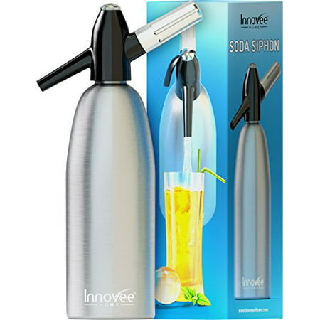 Innovee Soda Siphon  Ultimate Soda Maker  Aluminum  1 Liter  With Free Cocktail Recipes (Soda Siphon)