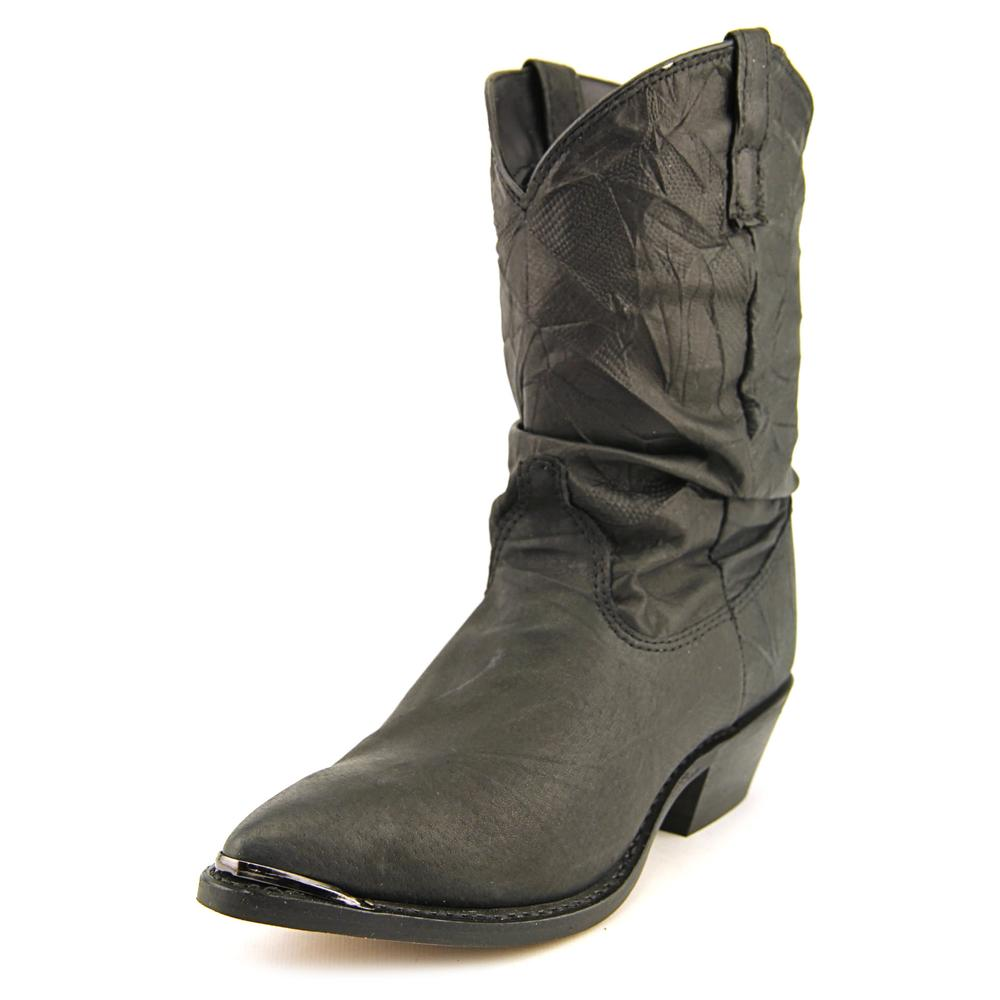 Dingo Pig Slouch Women Round Toe Leather Black Boot by Dingo