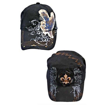 2-Pack Distressed Vintage Cadet Cap - Distressed Cadet Hat