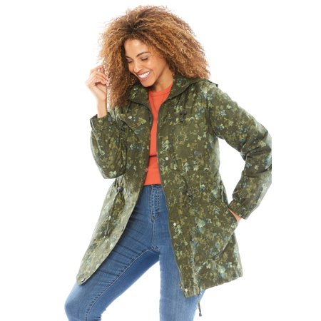 05d6a710730 Woman Within - Plus Size Weather-resistant Taslon Anorak - Walmart.com