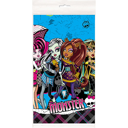 "Plastic Monster High Table Cover, 84"" x 54"""