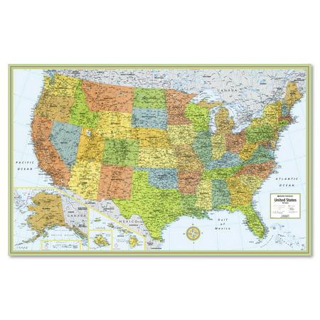 Rand McNally MSeries FullColor Laminated United States Wall Map - Walmart us map