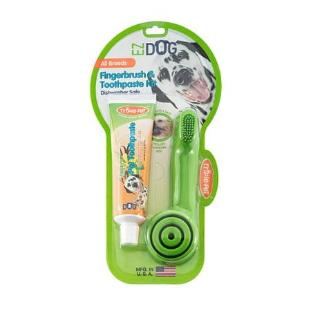 Triple Pet EZ Dog Finger Brush Kit