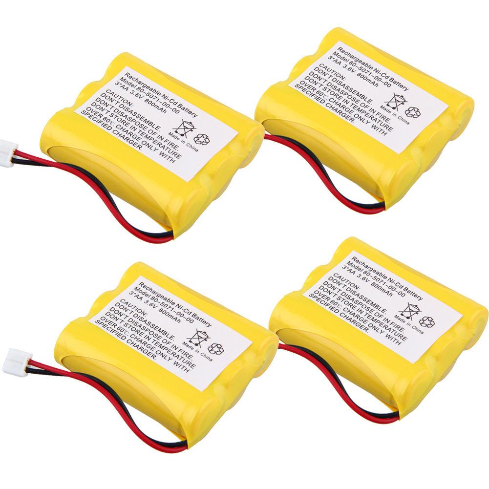 4X Home Phone Battery for Radio Shack: 43-472, 43-689, 43-733, 43-734, 43-9021, 960-2118, CS-90023, CS-90083, ET-1110, ET-3504, ET-3506, ET-3507, ET-689, ET-919, ET-927, ET-928