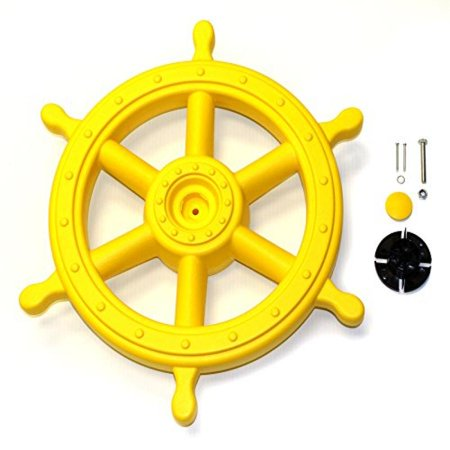 Eastern Jungle Gym Jumbo Captains Ship Wheel Pirate Wheel Deluxe Swing Set Accessory For Wooden Playset