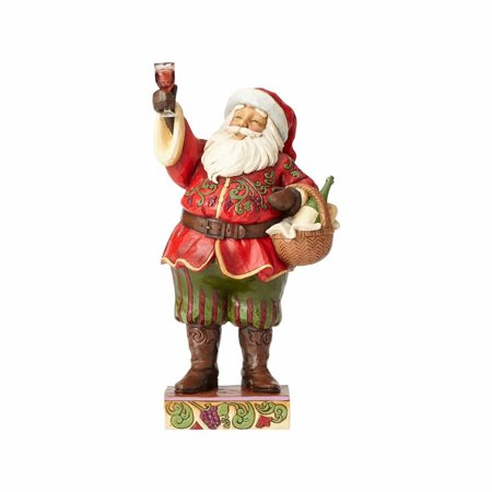 Jim Shore 4058788 Santa with Wine Glass and