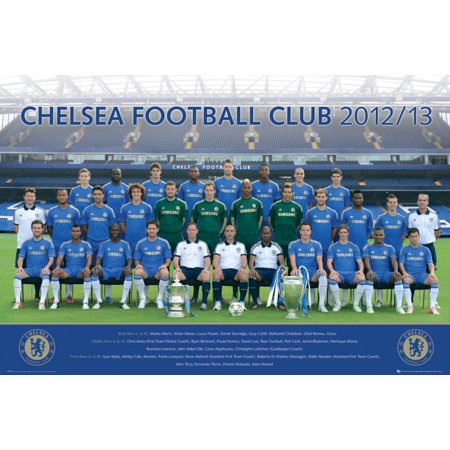 Chelsea FC Team Photo 2012 2013 Soccer Football Sports Poster 36x24 inch for $<!---->