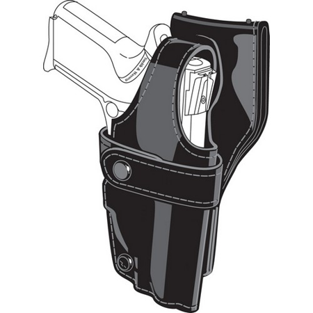 Safariland 0705 Level III 1.5-Inch Drop Retention Duty Holster, Low Ride, Black, Plain Right Hand, 0705-73-161 -