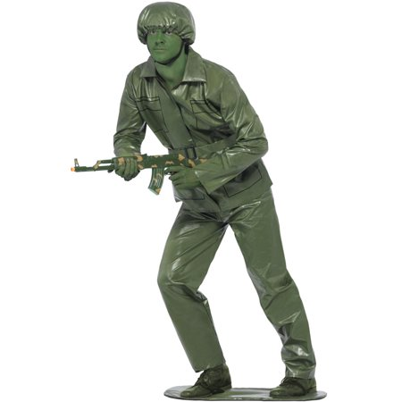 Toy Soldier Adult Costume Green Army Man Men Toy Story 2 3 Military Uniform - Dark And Stormy Halloween Costume