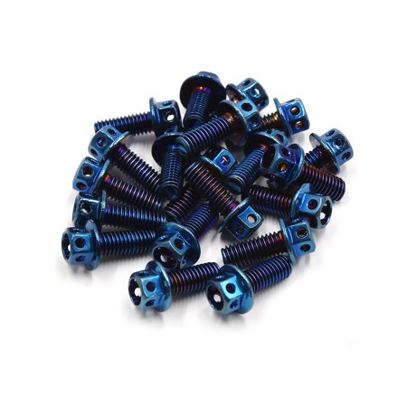20Pcs Colorful Titanium Alloy Motorcycle Hexagon Bolts Screws Fastener M6 x  15mm
