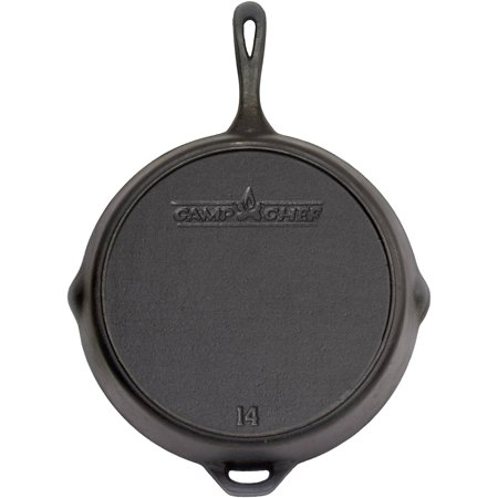 "Camp Chef Pre-Seasoned 14"" Cast Iron Skillet"