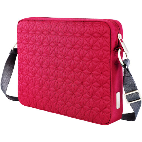 "Belkin 10.2"" Crossroads Quilted Laptop Sleeve, Garnet"