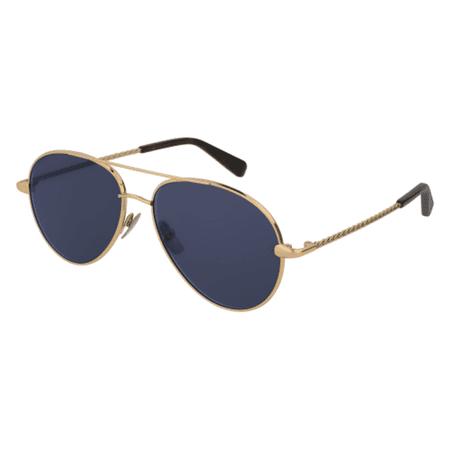 9b708f61d2 Brioni BR0034S-003 Gold Aviator Sunglasses - Walmart.com