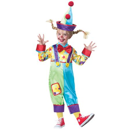 Clown Toddler Costume X-Small - Clown Toddler Costume