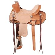 "Silver Royal Saddle Western Wylie Kid Wade Full Bars 14"" Light SR4014"
