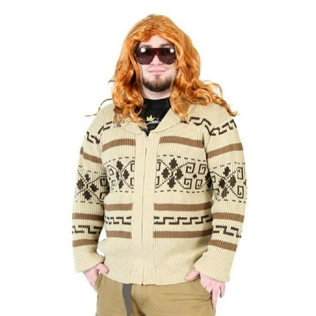 The Big Lebowski Jeffery The Dude Zip Up Costume Cardigan Sweater - Jesus From The Big Lebowski Costume