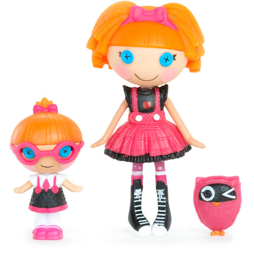 Mini Lalaloopsy Bea Spells-a-Lot and Lalaloopsy Littles Specs Reads-a-Lot Dolls with Pet