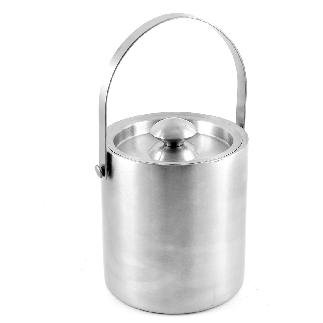 2L Bar Restaurant Double Walled Insulated Stainless Steel Ice Bucket with Lid by