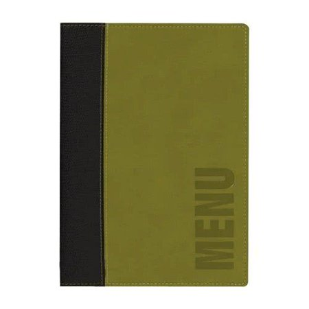 Faux Tabletops - MCTRLSGR Securit Faux Leather Menu Holder - Green By TableTop King