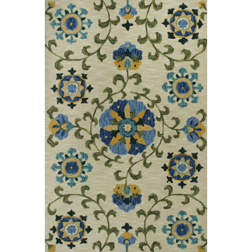 KAS Rugs Anise Allover Suzani Tan Area Rug