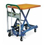 """SOUTHWORTH L-150 Scissor Lift Table, 330 lb. Cap, 17-3/4""""W, 28""""L"""