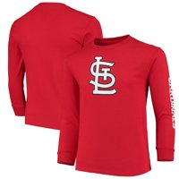 St. Louis Cardinals Soft as a Grape Youth Sleeve Hit Logo Long Sleeve T-Shirt - Red