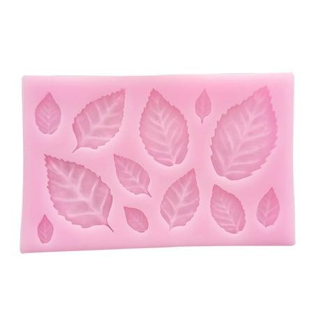 KABOER Luxury  1pc DIY Fondant Cake 3D Leaves Silicone Mould Leaf Press Mold Silicone Mold Cake Decor ()