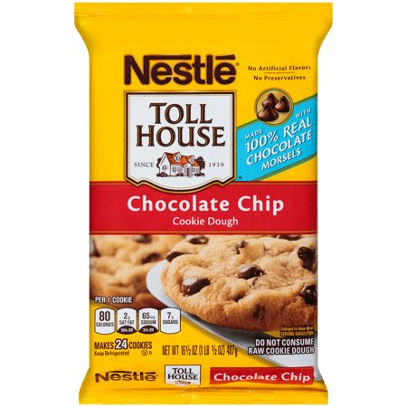 Nestle TOLL HOUSE Chocolate Chip Cookie Dough 16.5 oz. Bar - Walmart ...
