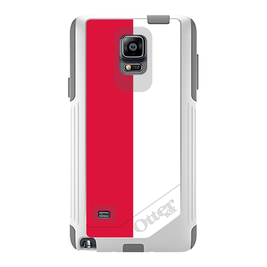 CUSTOM White OtterBox Commuter Series Case for Samsung Galaxy Note 4 Poland Flag