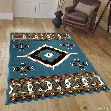 Allstar Light Blue Woven High Quality Rug. Traditional. Persian. Flower. Western. Design Area Rug (5' 2