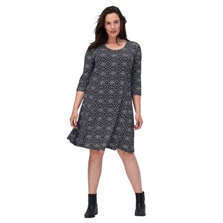 Ellos Plus Size Madison A-line Dress