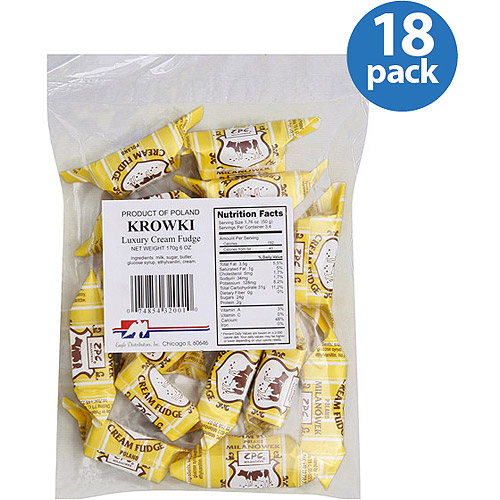 Eagle Distributors, Inc. Krowki Luxury Cream Fudge, 6 oz, (Pack of 18)