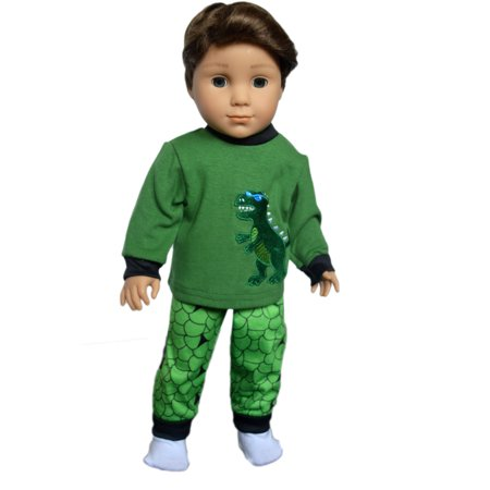 Pjs 18 Doll Clothes (My Brittany's Dinosaur Pjs Fits American Girl Dolls and My Life as Dolls- 18 Inch Doll Clothes )