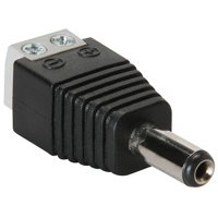 2.1mm x 5.5mm Power Plug to Screw Terminals