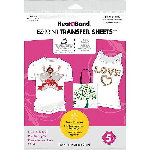"Heat'n Bond EZ Print Transfer Sheet, 8.5"" x 11"", 5-Pack"