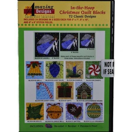 In-The-Hoop Christmas Quilt Blocks ()