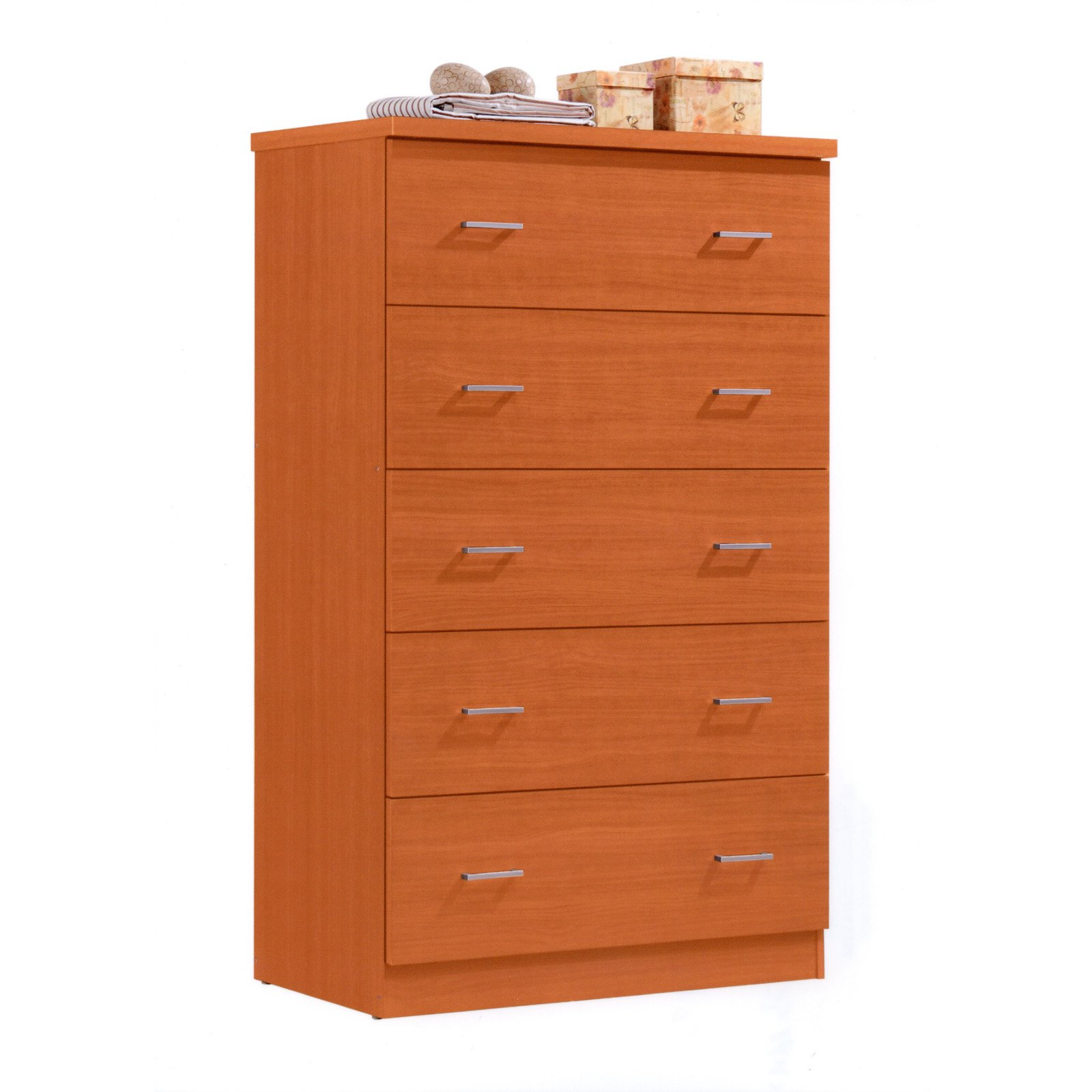 Hodedah Imports Jumbo 5 Drawer Chest
