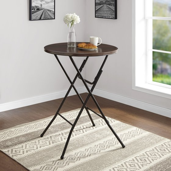 "Round Kitchen Table And Chairs Walmart Kitchen Table Sc 1: Mainstays 31"" Round High-Top Faux Wood Table"