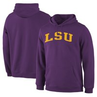 LSU Tigers Fanatics Branded Basic Arch Pullover Hoodie - Purple