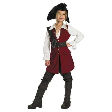 Pirates of the Caribbean - Elizabeth Pirate Deluxe Pre-Teen - Pirates Of The Caribbean Women Costumes