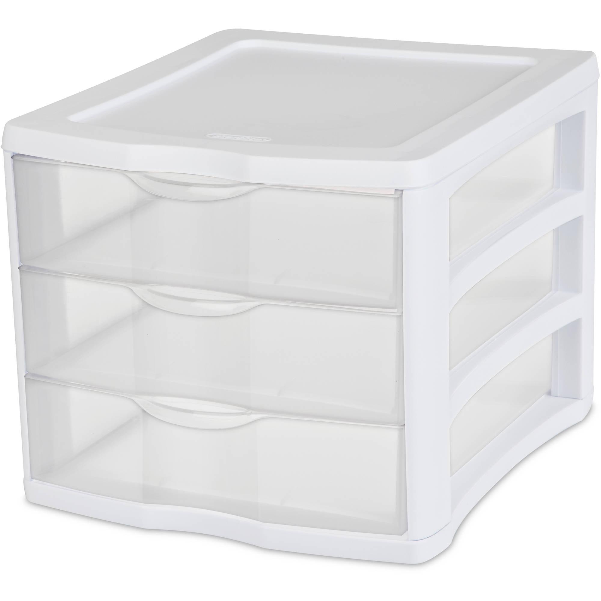 Sterilite 3-Drawer Organizer, White
