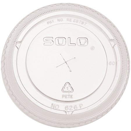 SOLO Cup Company Party Lids Plastic Construction for Solo Cold Drinks, 16 oz. Capacity, 50/Bag