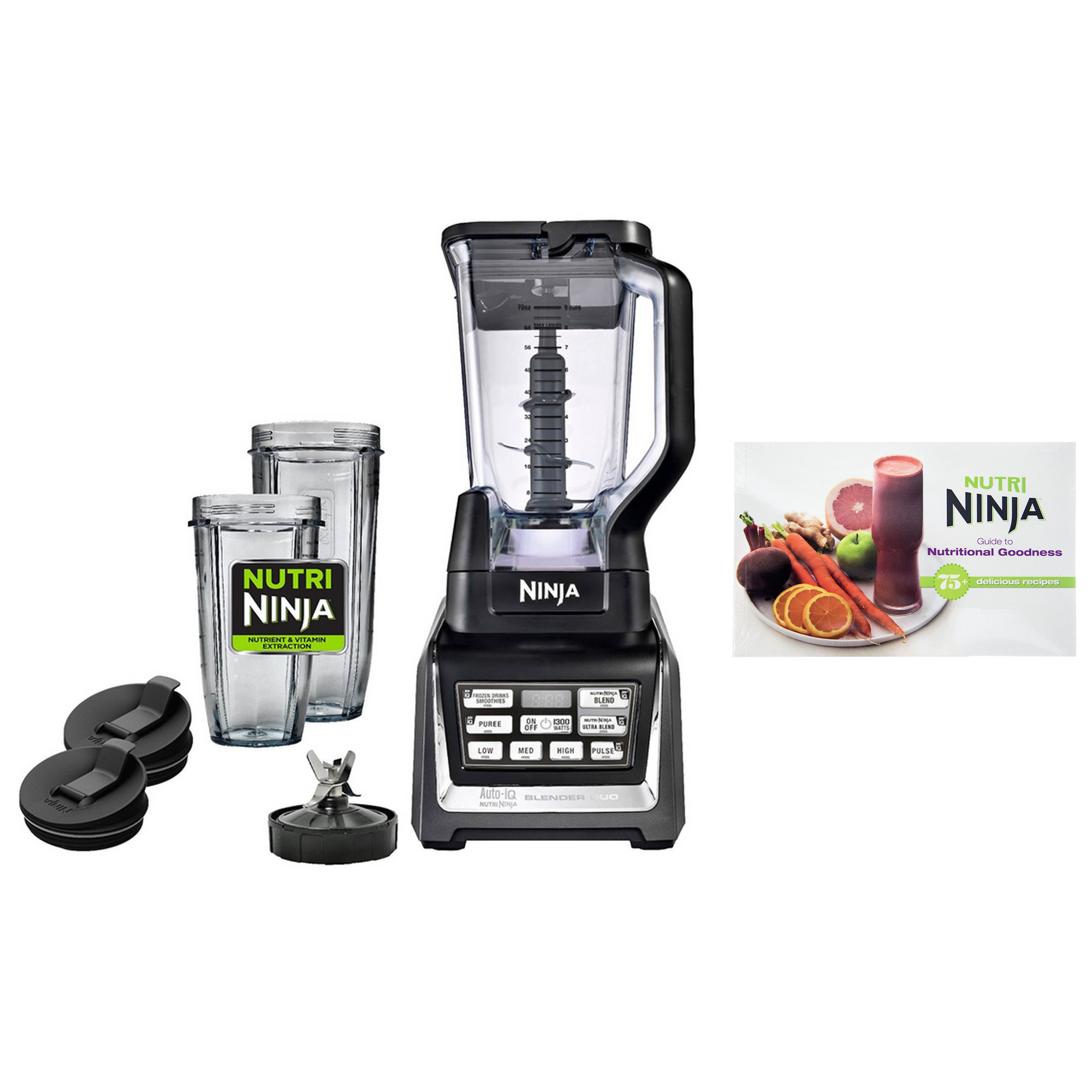 Nutri Ninja BL641 DUO 1300W Auto-iQ Pro Digital Power Blender with Recipe Guide