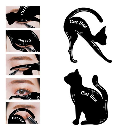 Cat Eye Eyeliner Stencil Makeup Eyes Liner Stencil Models Eyebrow Template Shaper Tool
