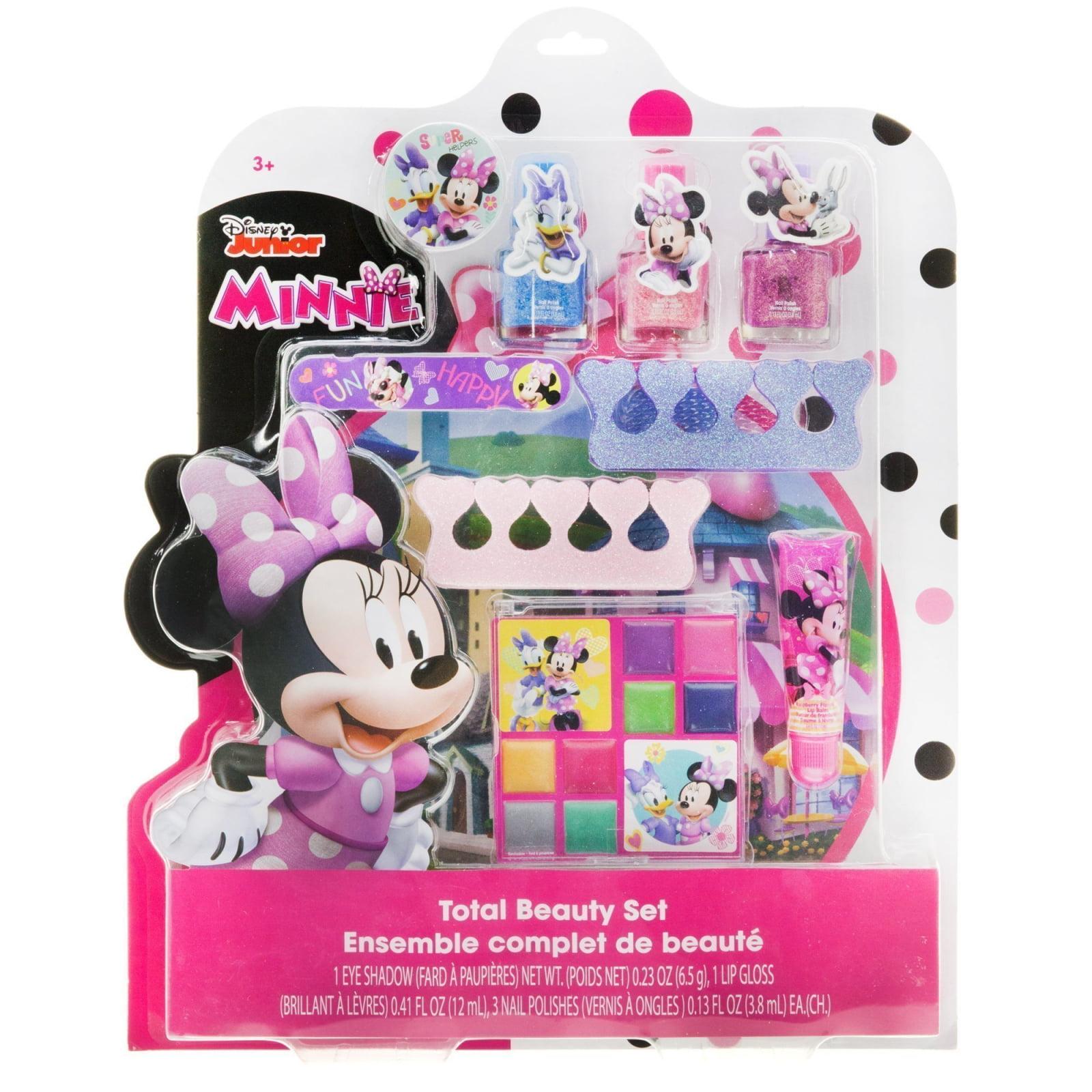 Disney Minnie Mouse Total Beauty Cosmetic Lip Gloss Eye Shadow Nail Polish Set