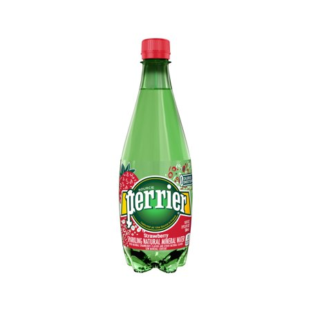 Perrier Sparkling Natural Mineral Water, Strawberry, 16.9 Fl Oz, 24 Count