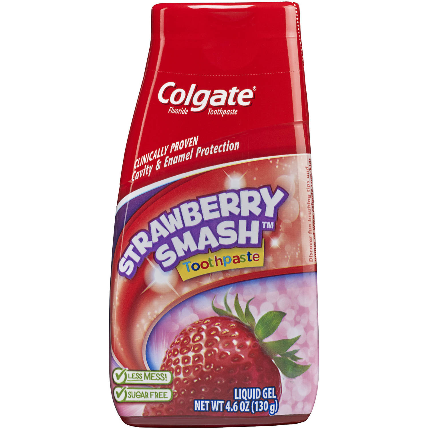 Colgate Strawberry Smash Liquid Gel Fluoride Toothpaste, 4.6 oz