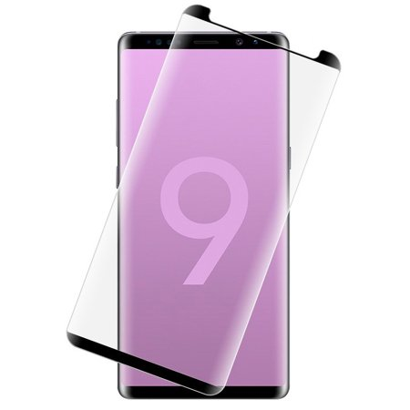 Note 9 Tempered Glass, Full Size 3D Curved Hard Tempered Glass Screen Protector Crack Saver for Samsung Galaxy Note-9 (SM-N960) - 3d Halloween Screensaver
