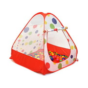 iCorer Young Kids Tents/Pop Up Play Tent Portable Folding Twist, Indoor and Outdoor Kid Playhouse Tent, Great Gift for Toddler, Easy to Setup, Safe and Sturdy, Balls Not Included, Red