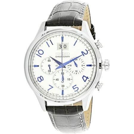 Fashion Chronograph Watch (Men's Chronograph SPC155 Black Leather Quartz Fashion Watch )
